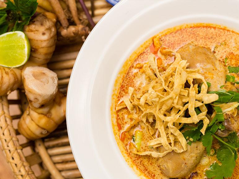 Salathai Burrard Vancouver's Khao Soi Noodle. Available for noodle mondays