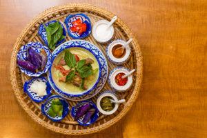 Salathai Burrard Green Curry with rice