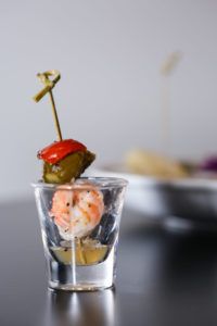 prawn skewers for cocktail hour when catering with Salathai burrard vancouver