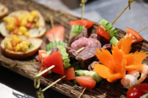 Snacks for guests when event catering with Salathai Burrard Vancouver